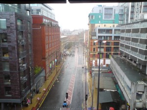 Manchester in the rain