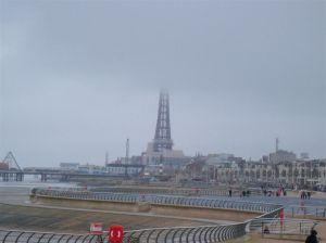 Blackpool Tower under Fog